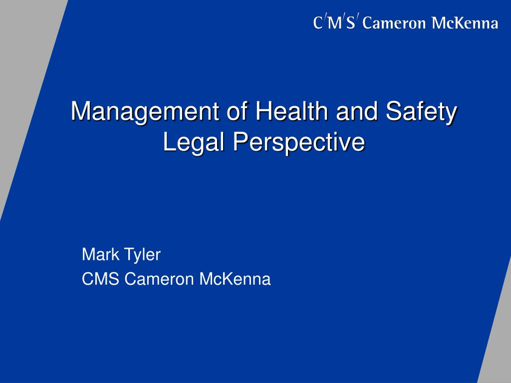 management of health and safety legal perspective l.