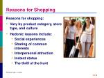 reasons for shopping