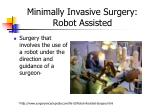 minimally invasive surgery robot assisted