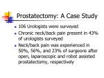 prostatectomy a case study20