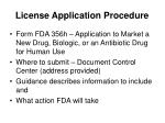 license application procedure