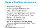 steps to enabling maintenance