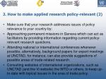 2 how to make applied research policy relevant 2