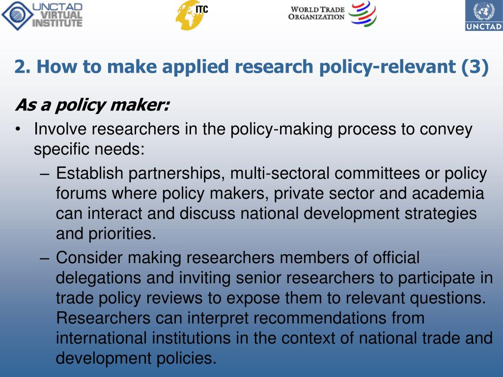 2. How to make applied research policy-relevant (3)