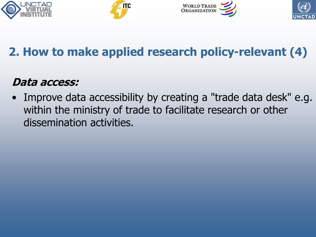 2. How to make applied research policy-relevant (4)