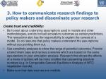 3 how to communicate research findings to policy makers and disseminate your research