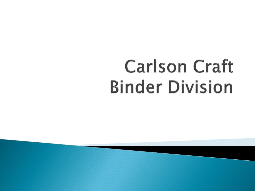 carlson craft binder division l.