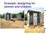 example designing for women and children