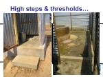 high steps thresholds