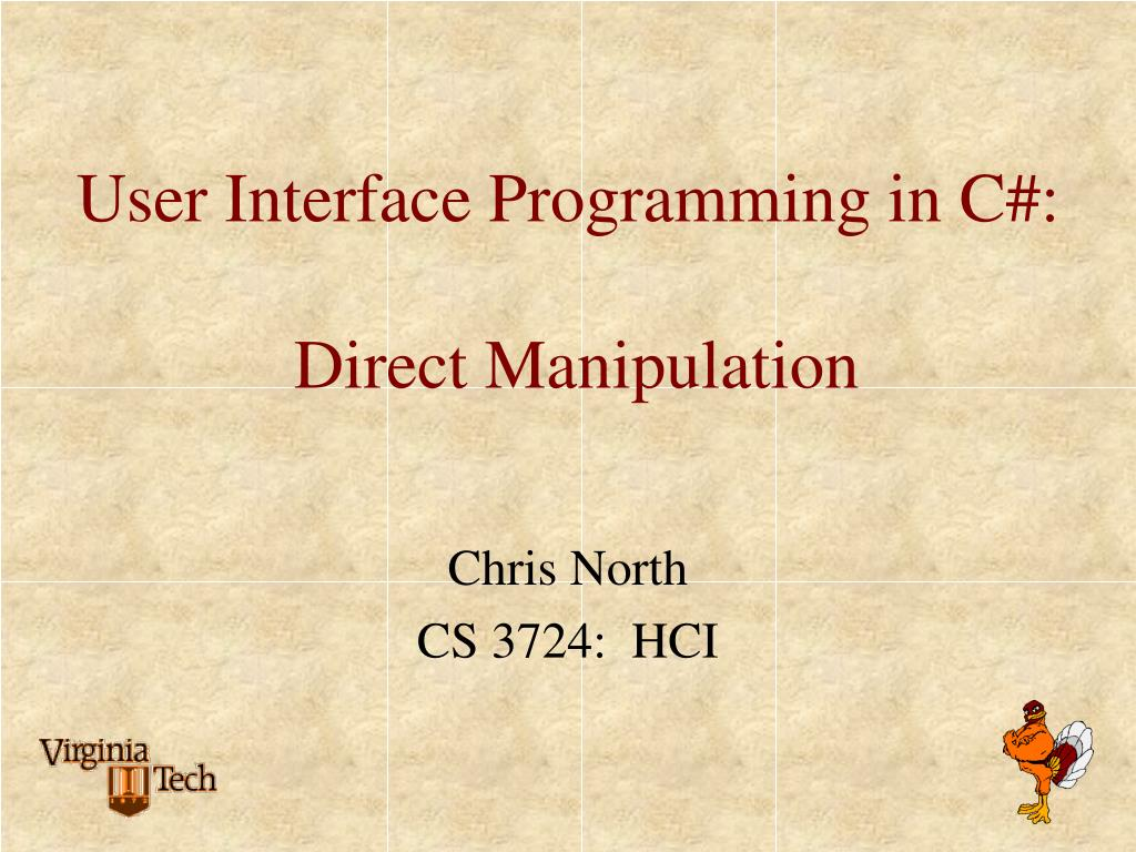 user interface programming in c direct manipulation