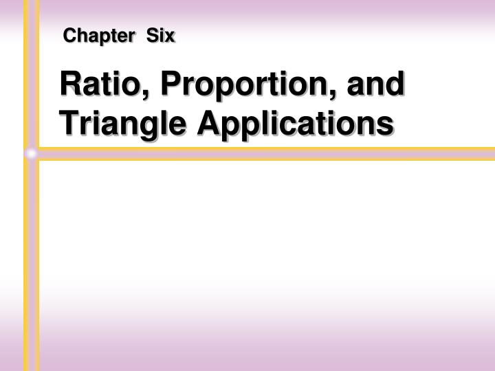 ratio proportion and triangle applications n.