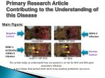 primary research article contributing to the understanding of this disease1