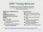 2009 training materials