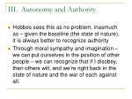 iii autonomy and authority29
