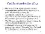 certificate authorities ca