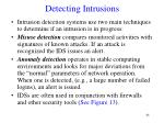 detecting intrusions