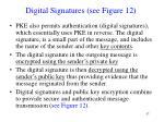 digital signatures see figure 12