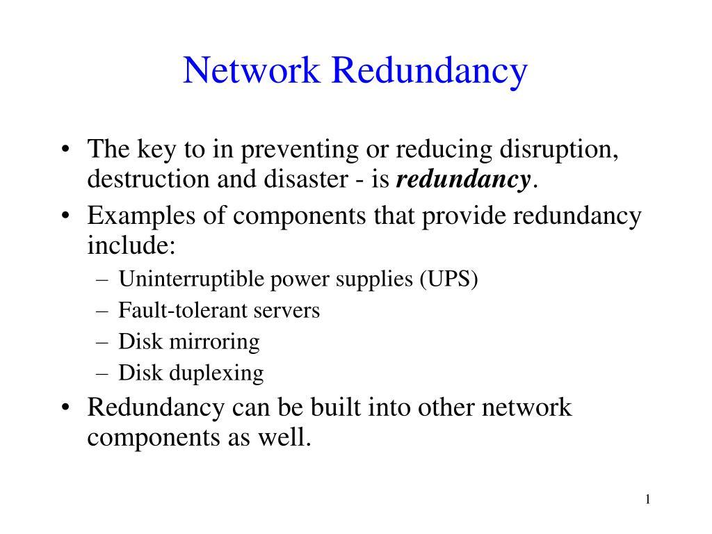 network redundancy l.