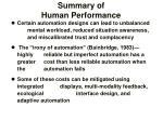 summary of human performance