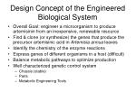 design concept of the engineered biological system