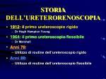 storia dell ureterorenoscopia