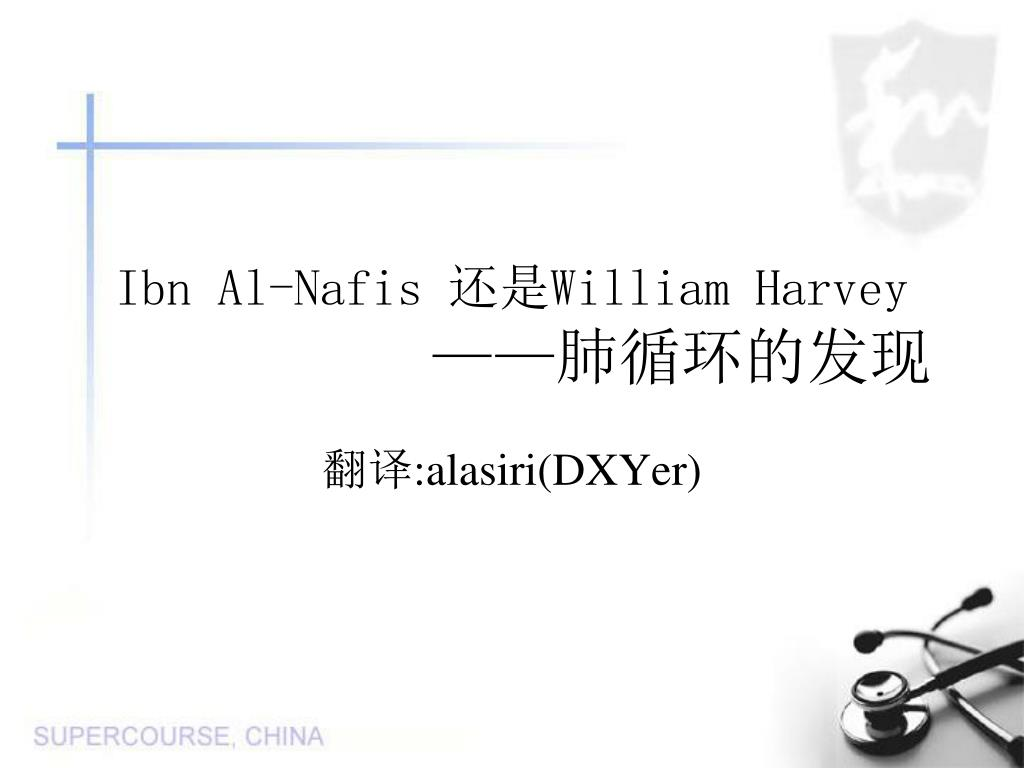 ibn al nafis william harvey l.