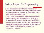 federal impact for programming