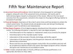 fifth year maintenance report6