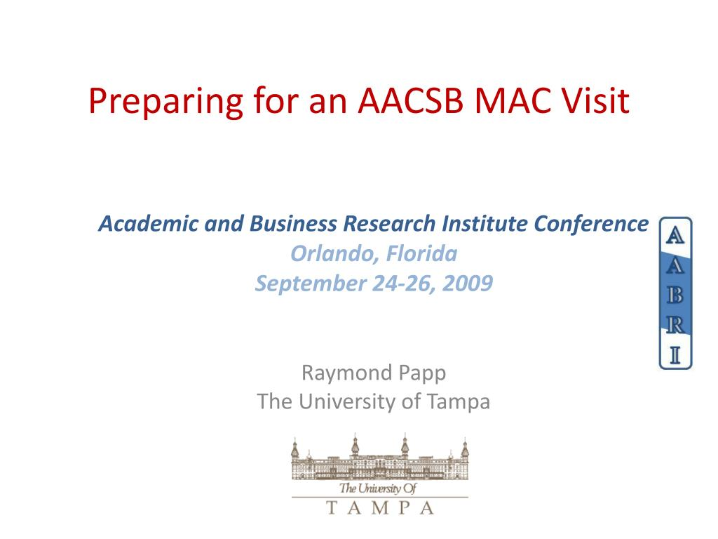 preparing for an aacsb mac visit l.
