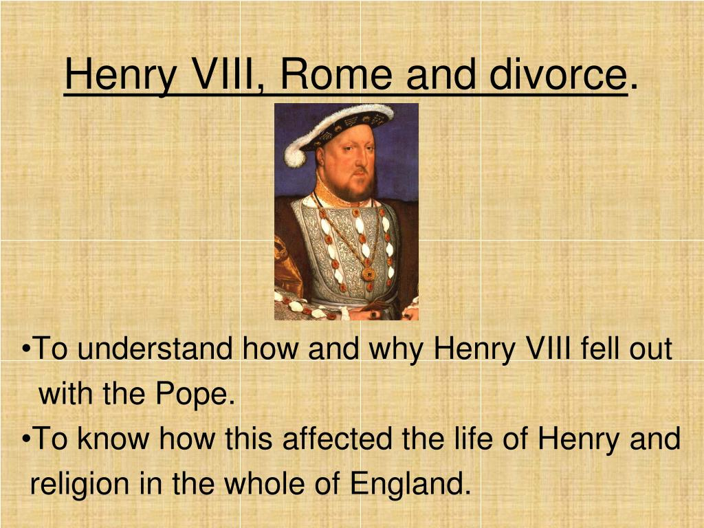 henry viii rome and divorce l.