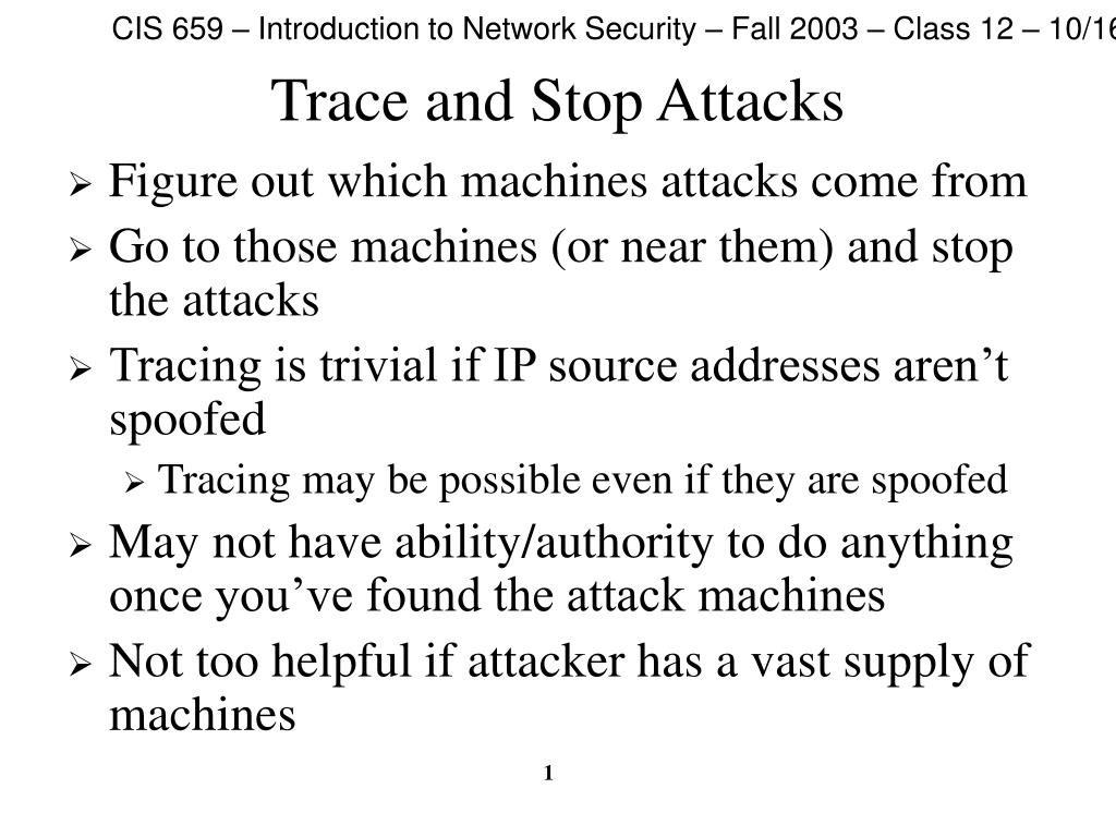 trace and stop attacks l.