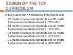 design of the tqf curriculum