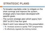 strategic plans