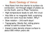 basic geology of venus
