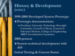 history development cont10