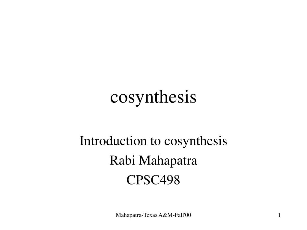 cosynthesis l.