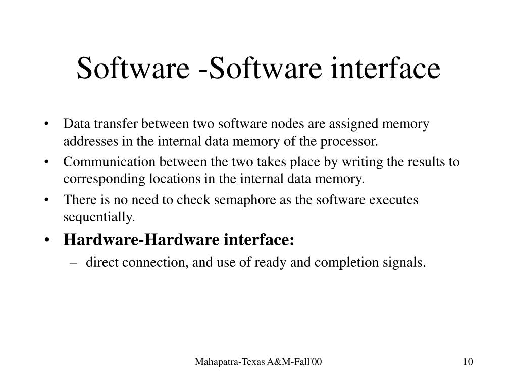 Software -Software interface