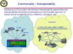 commonality interoperability