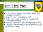 chapter 11 death manner mechanism cause and time