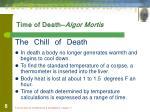 time of death algor mortis