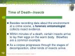 time of death insects