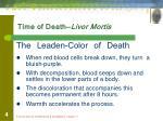 time of death livor mortis