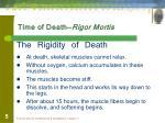 time of death rigor mortis
