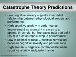 catastrophe theory predictions