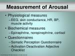 measurement of arousal