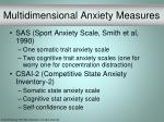 multidimensional anxiety measures