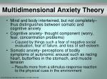 multidimensional anxiety theory31