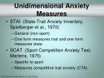 unidimensional anxiety measures