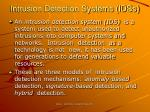 intrusion detection systems idss