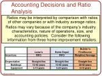 accounting decisions and ratio analysis16